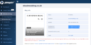 nameservers-for-blog-domain