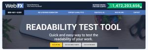 WebFX-Readability-Tool