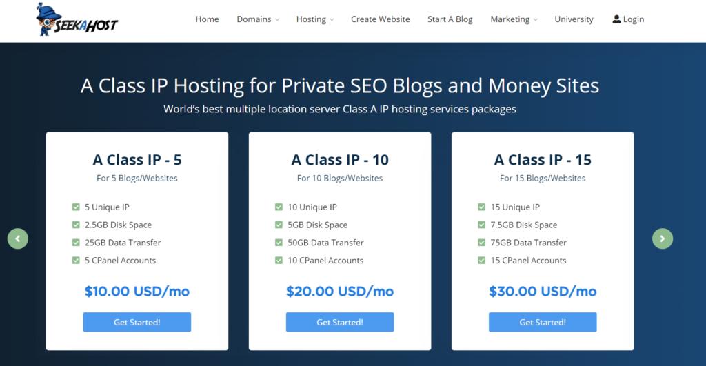 A-Class-IP-Hosting-plans-at-SeekaHost