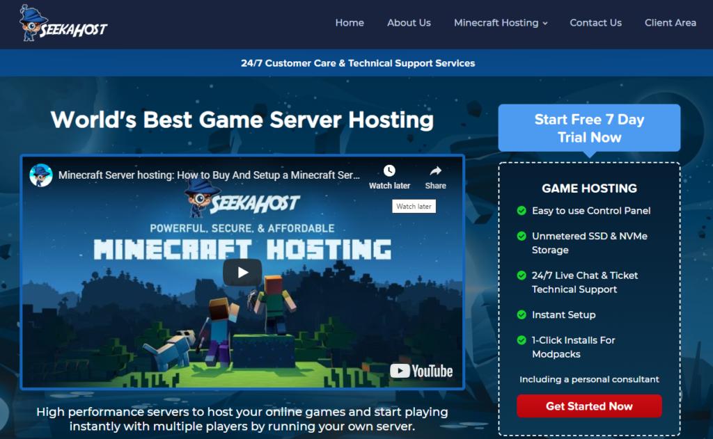 SeekaHost-Minecraft-server-hosting