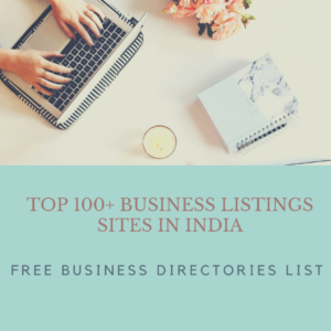 TOP 100+ Business Listings sites in India