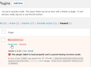 wordpress-plugins-issues