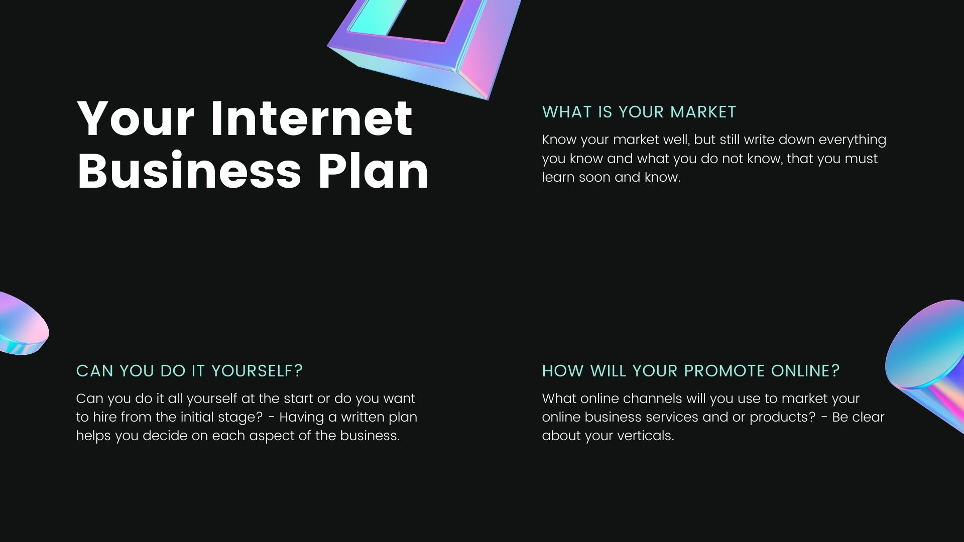 internet business plan